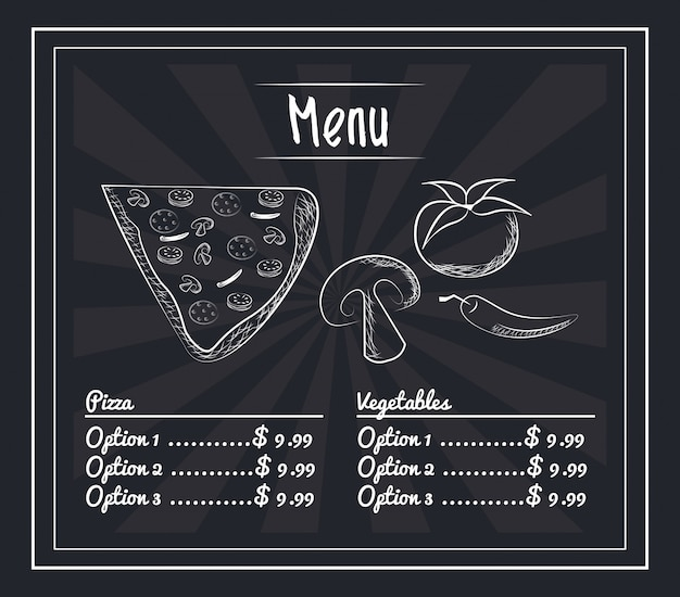 Menu restauration rapide