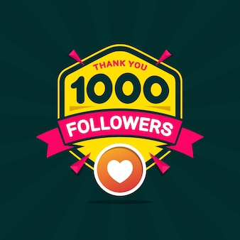 Merci 1000 abonnés bravo bannière