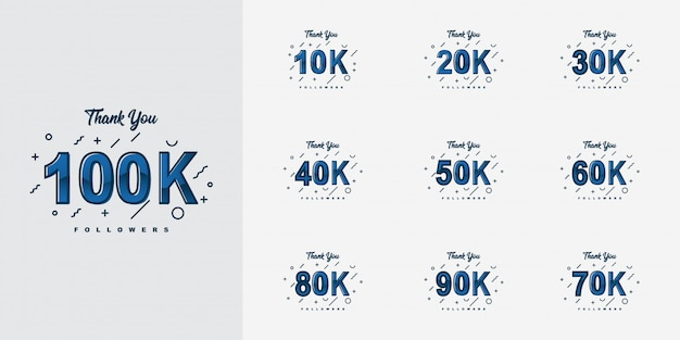 Merci 10k à 100k followers design