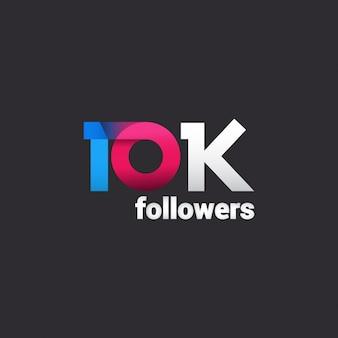 Merci 10k abonnés pour les médias sociaux