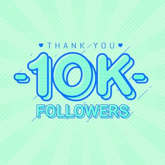 Merci 10k followers bannière de félicitations