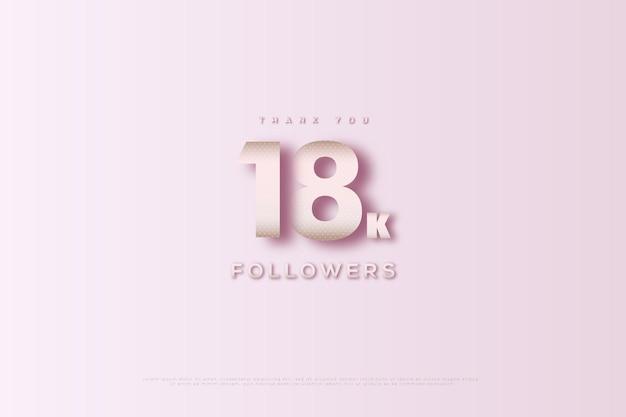 Merci 18k abonnés avec une couleur vive
