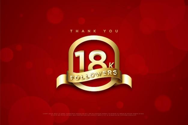 Merci 18k followers sur un ovale doré