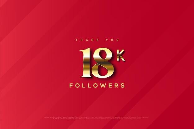 Merci 18k followers sur un rayé rouge