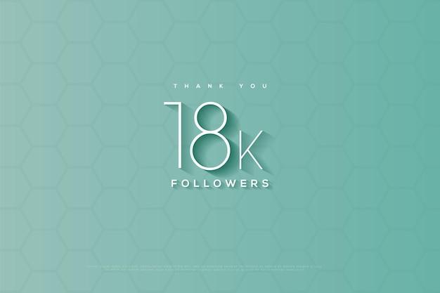 Merci 18k followers avec tosca blue
