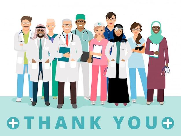 Merci à l'affiche des travailleurs médicaux