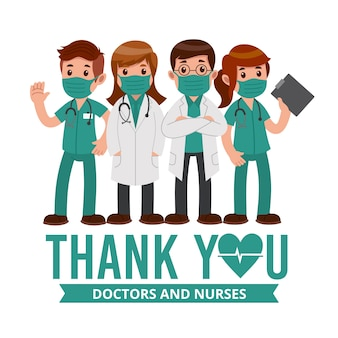 Merci au personnel médical
