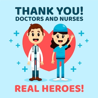 Merci aux médecins et au personnel infirmier