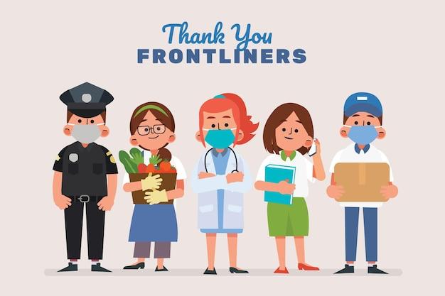 Merci aux travailleurs essentiels