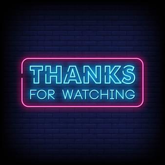 Merci d'avoir regardé l'enseigne au néon