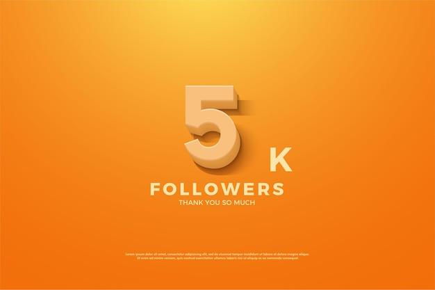 Merci beaucoup 5k followers avec des personnages animés.