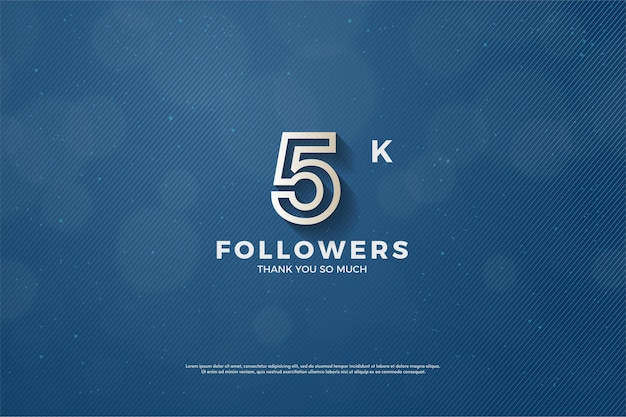 Merci beaucoup 5k followers.
