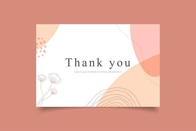 Merci carte modèle nature fond