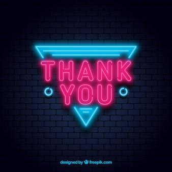 Merci composition avec un style néon