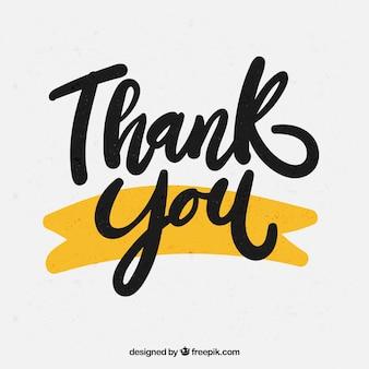 Merci fond avec des lettres noires