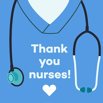 Merci les infirmières - illustration de concept