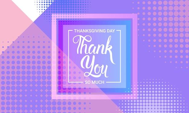 Merci, joyeux jour de thanksgiving carte de voeux traditionnelle de vacances d'automne