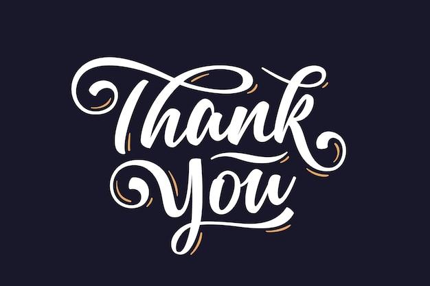 Merci, lettrage à la main pour les vacances de thanksgiving