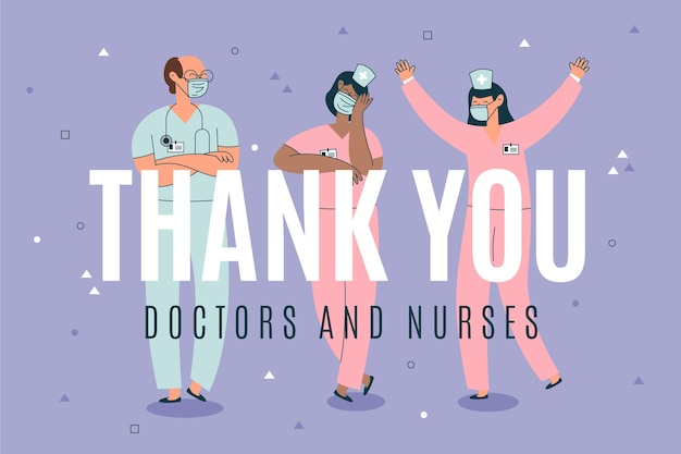 Merci Médecins Pour Votre Dévouement Vecteur gratuit