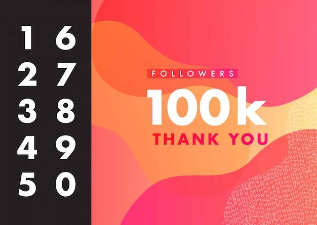 Merci pour les followers, félicitations