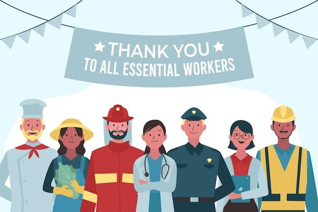 Merci à tous les travailleurs essentiels