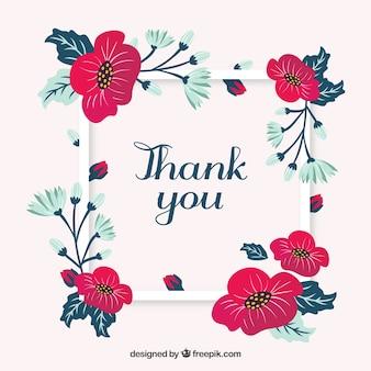 Merci de votre carte avec des fleurs
