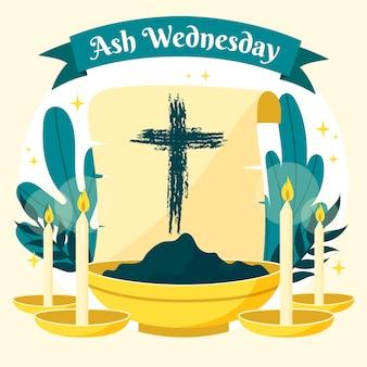Mercredi des cendres dessiné à la main