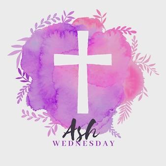 Mercredi fond de frêne avec croix