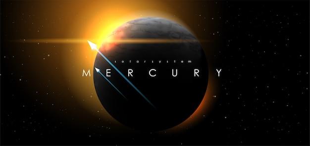 Mercure sur fond de l'espace