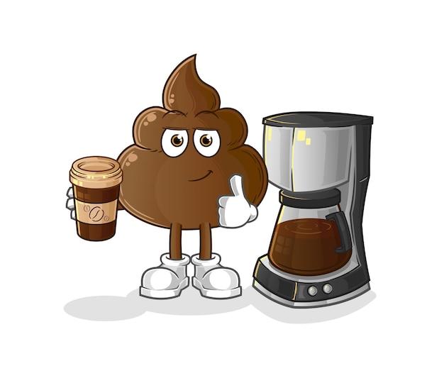 La merde buvant du café