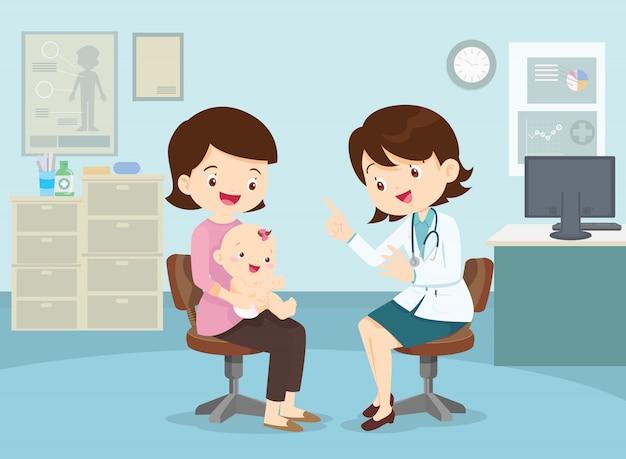 Mère a emmené son fils voir le médecin