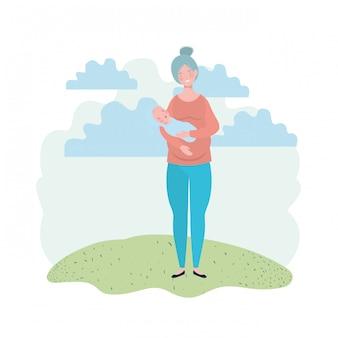 Mère isolée avec bébé