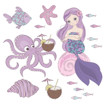 Mermaid dessert underwater princess