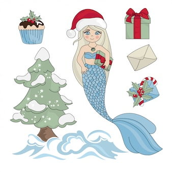 Mermaid gift nouvel an couleur