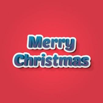 Merry christmas background avec des lettres bleues