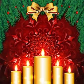 Merry christmas backgrounds avec effet d'éclairage