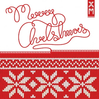 Merry christmas tricot illustration