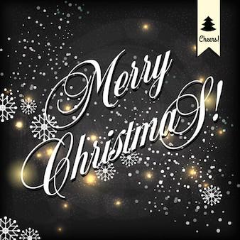 Merry christmass carte célébration