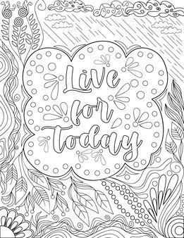 Merveilleux message d'inspiration en direct pour aujourd'hui entouré de dessins de fleurs sous la pluie