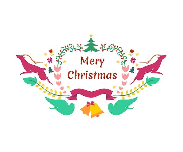 Mery christmast background elements