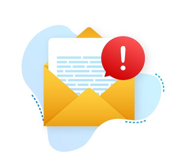 Message d'alerte notification d'ordinateur portable une erreur de danger alerte un problème de virus d'ordinateur portable