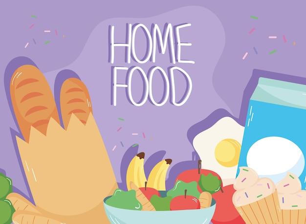 Message alimentaire à la maison