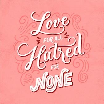 Message d'amour dans le style vintage