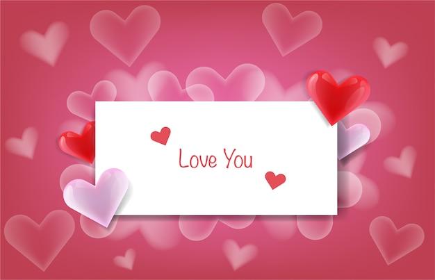 Message d'amour sur papier