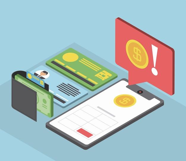 Message d'argent du portefeuille mobile fiscal