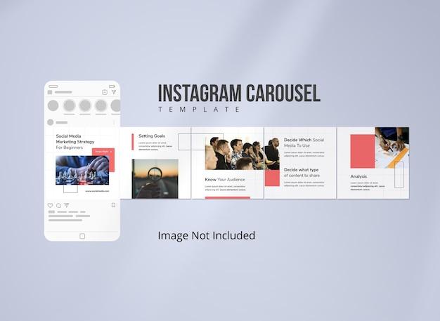 Message de carrousel instagram de marketing d'entreprise