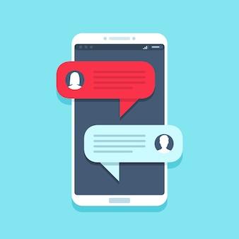 Message de chat sur smartphone