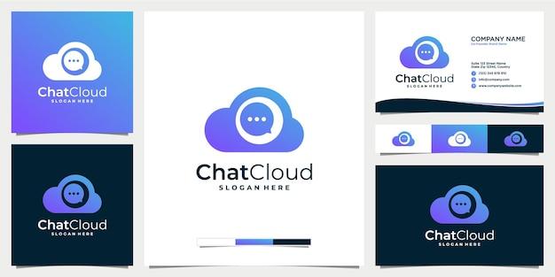 Message de discussion en nuage ou modèle de logo de commentaire