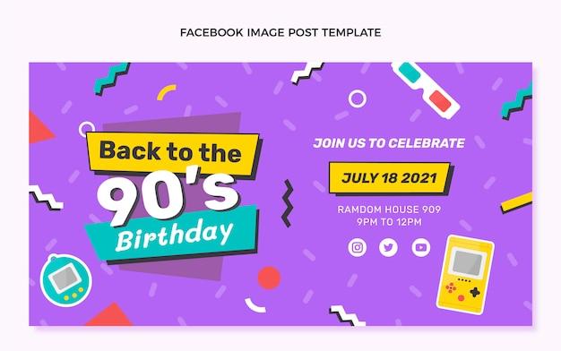 Message facebook anniversaire dessiné à la main