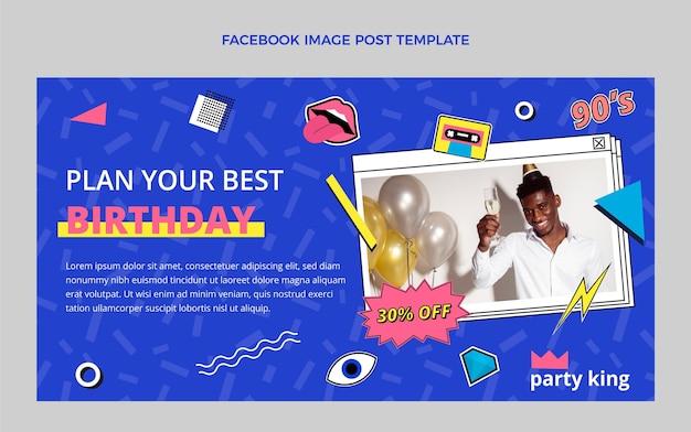 Message facebook d'anniversaire nostalgique plat des années 90